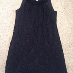 F&F Black Lace Shift Dress - Size UK 12, floral design. is being swapped online for free