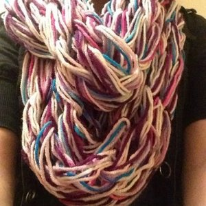 Multi Color infinity scarf is being swapped online for free