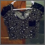 Nollie leopard crop lace shoulders shirt is being swapped online for free