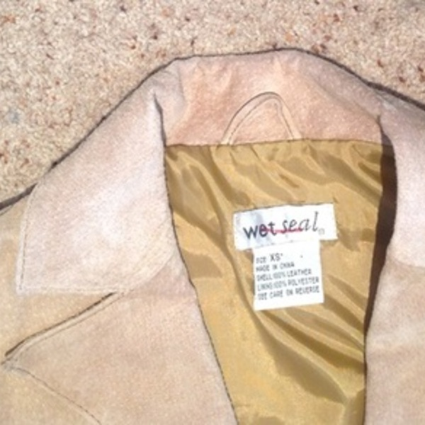 Wet Seal Camel Suede Jacket - Size XS, vintage style. is being swapped online for free