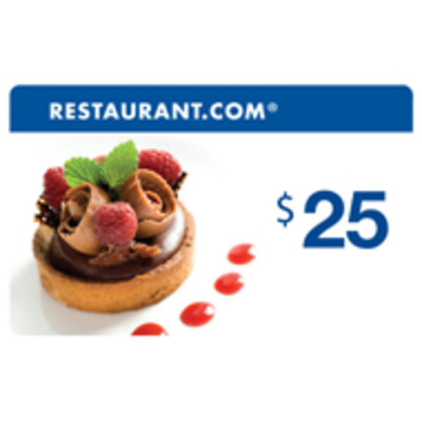 $25 Restaurant.com® E-Gift Certificate is being swapped online for free