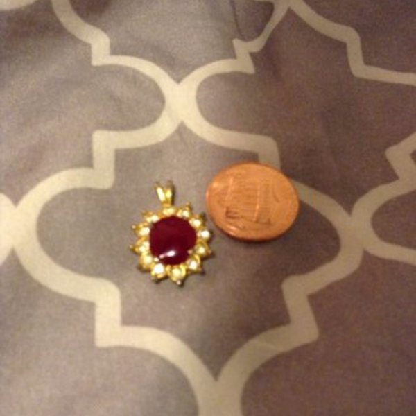 Royal red pendant is being swapped online for free