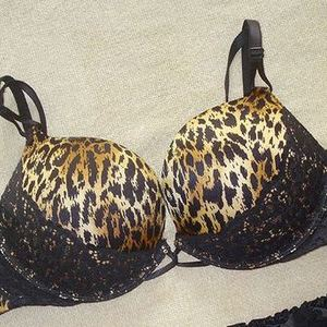 Victorias Secret Leopard and Lace Miraculous Bra Size 32B is being swapped online for free