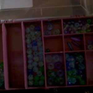 Waterpaints, beads, jewelery tools and bead holder :) is being swapped online for free