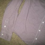 Mossimo Purple Checkered Button Down Shirt Large is being swapped online for free