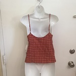 NWT Plaid & Lace Tank is being swapped online for free