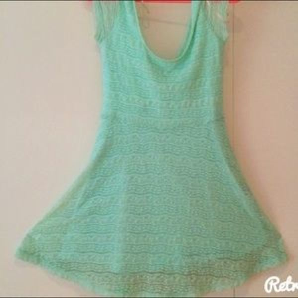 Mint Lace Skater Dress (Forever 21)  is being swapped online for free