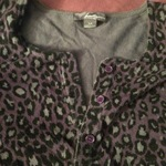Purple Leopard Print Cardigan is being swapped online for free