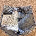 High waisted half lace shorts Bluenotes is being swapped online for free