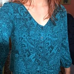 Paisley Teal Blouse is being swapped online for free