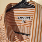 Salmon vertical stripes Express men's shirt medium is being swapped online for free