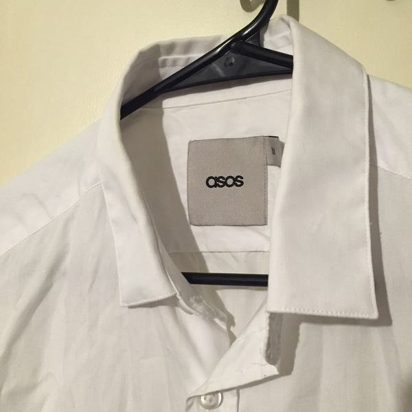 ASOS white shirt-sleeve medium shirt is being swapped online for free