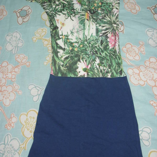 navy/floral dress is being swapped online for free