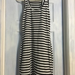 Black/white striped bodycon dress M is being swapped online for free