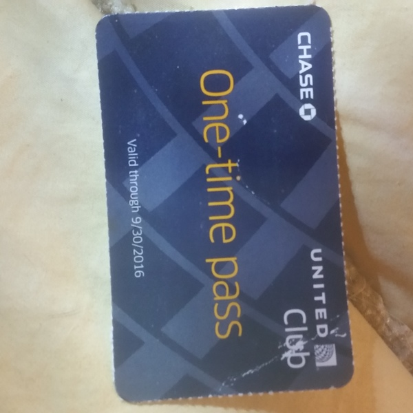 United Airlines Club Pass 9/30/16 is being swapped online for free
