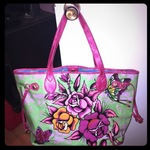 Ed Hardy flower patterned tote  is being swapped online for free