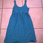 Striped turquoise small dress is being swapped online for free