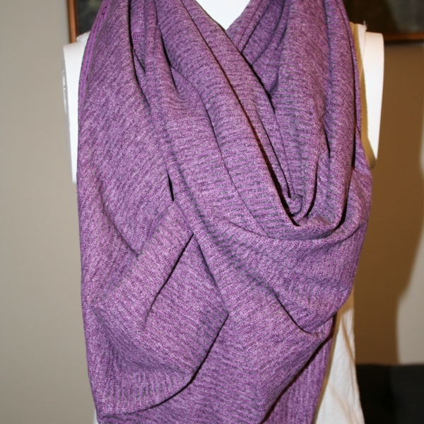 Lululemon Vinyasa Mini Check Pique Ultra Violet Scarf Rulu is being swapped online for free