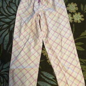 Pink Plaid PJ bottoms is being swapped online for free