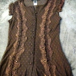Dark Brown Lacey Top is being swapped online for free