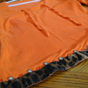 Orange Animal Print Top is being swapped online for free