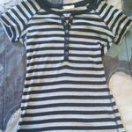 Black and grey striped shirt is being swapped online for free