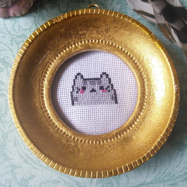 Mini Pusheen Cat Cross Stitch is being swapped online for free