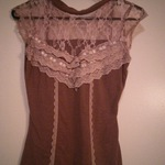Adorable brown lace top is being swapped online for free