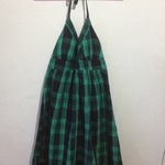 green/black plaid dress is being swapped online for free