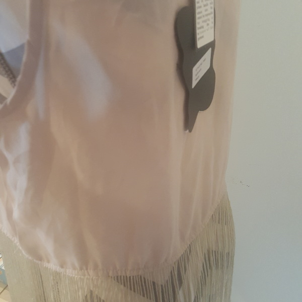 NWT Tan Fringe Top.  is being swapped online for free