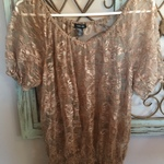 Brown Lace top Size L is being swapped online for free