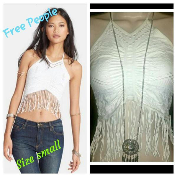 free people fringed top  is being swapped online for free