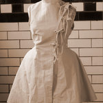 steampunk style apron, lab coat-sz small med. is being swapped online for free