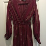 Maroon and Gold Long Dress is being swapped online for free