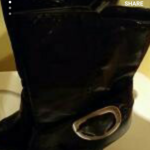 Bcbg black boot size 6 is being swapped online for free