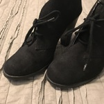 Black Suede Booties Size 8 is being swapped online for free