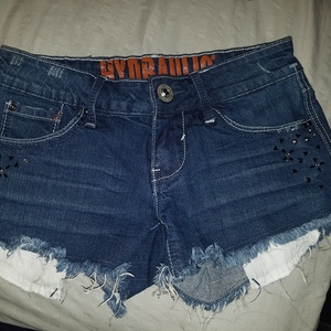 Cut off Denim Shorts Sz 1/2 is being swapped online for free