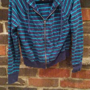 blue striped jacket is being swapped online for free