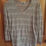 Old Navy Tan And White Striped Top Size XS is being swapped online for free