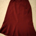 Maroon knee length skirt is being swapped online for free