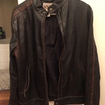 Brown Phaux Leather Jacket  is being swapped online for free