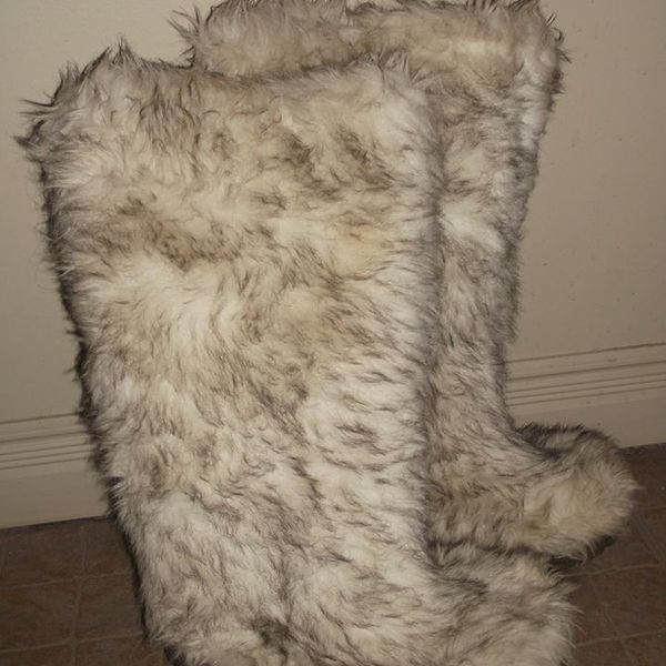 Super Cute Furry Winter Boots Also nice for Spring :) is being swapped online for free