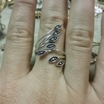 Sterling Marcasite  wrap ring - 6 is being swapped online for free