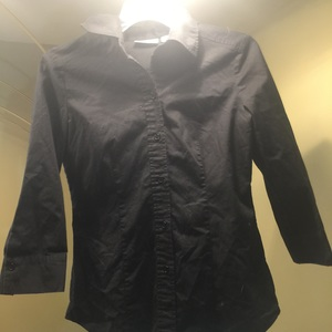 New York And Company black Button Down XS is being swapped online for free