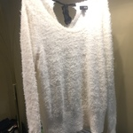 A.n.a. White furry sweater XL is being swapped online for free