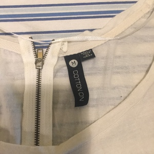 Cotton On white Top size Medium  is being swapped online for free