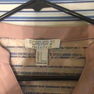 Forever 21 pink lace top Small is being swapped online for free