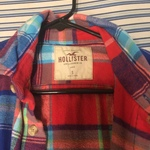 Hollister plaid flannel Button Down small is being swapped online for free