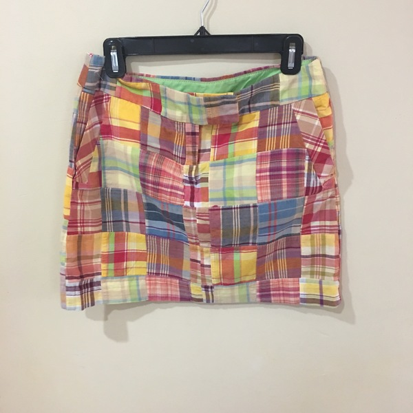 J Crew Patchwork Mini Skirt Size 4 is being swapped online for free