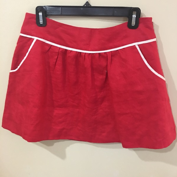 Red Hot Linen Mini Skirt is being swapped online for free